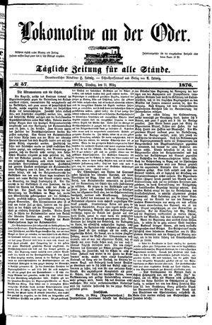 Lokomotive an der Oder vom 21.03.1876