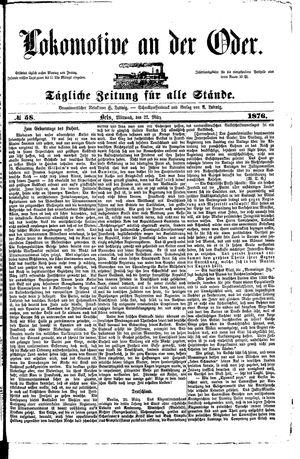 Lokomotive an der Oder on Mar 22, 1876