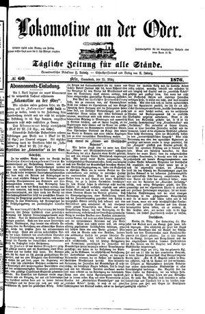 Lokomotive an der Oder vom 25.03.1876