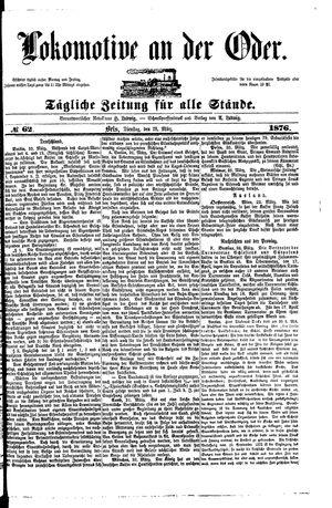 Lokomotive an der Oder on Mar 28, 1876