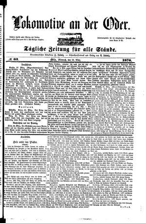Lokomotive an der Oder vom 29.03.1876