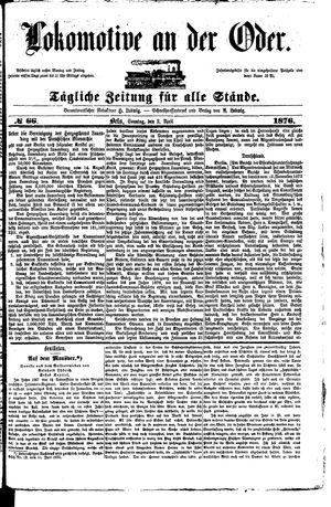 Lokomotive an der Oder vom 02.04.1876