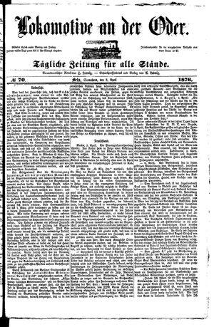 Lokomotive an der Oder vom 08.04.1876