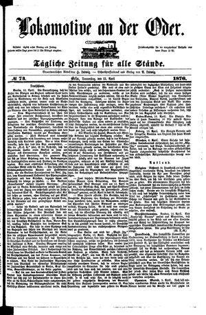 Lokomotive an der Oder on Apr 13, 1876