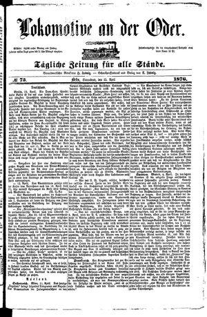 Lokomotive an der Oder vom 15.04.1876