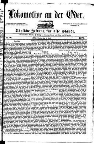 Lokomotive an der Oder vom 16.04.1876