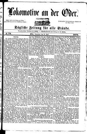 Lokomotive an der Oder vom 22.04.1876
