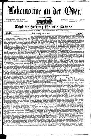 Lokomotive an der Oder vom 23.04.1876