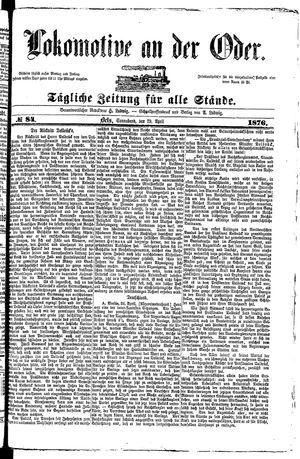 Lokomotive an der Oder vom 29.04.1876