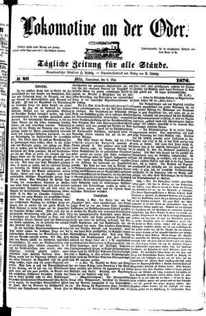 Lokomotive an der Oder vom 06.05.1876