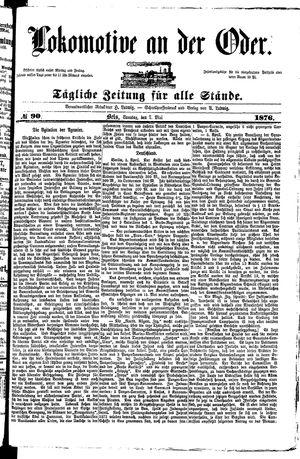 Lokomotive an der Oder vom 07.05.1876