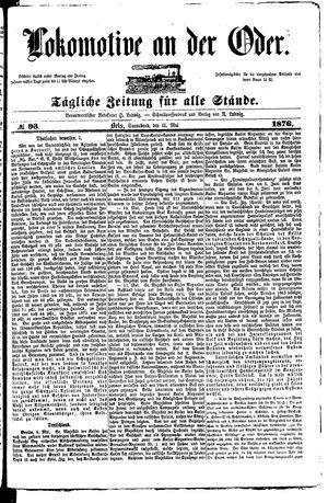 Lokomotive an der Oder vom 13.05.1876