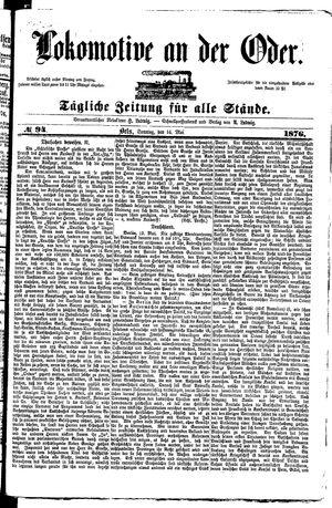 Lokomotive an der Oder vom 14.05.1876
