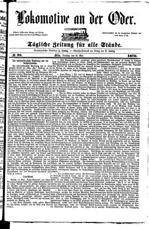 Lokomotive an der Oder vom 16.05.1876