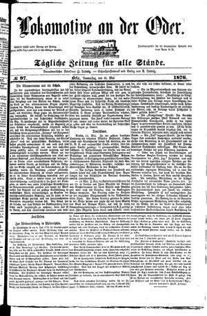 Lokomotive an der Oder vom 18.05.1876