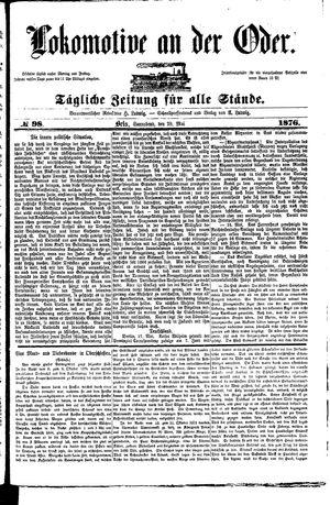 Lokomotive an der Oder vom 20.05.1876