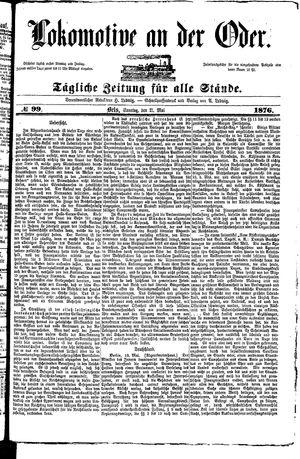 Lokomotive an der Oder vom 21.05.1876