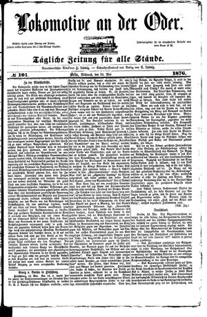 Lokomotive an der Oder on May 24, 1876