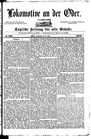 Lokomotive an der Oder vom 27.05.1876