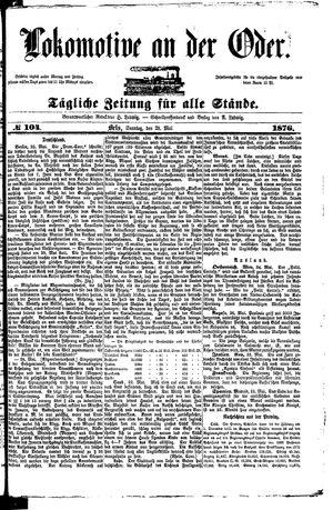 Lokomotive an der Oder vom 28.05.1876