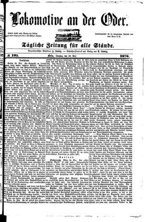 Lokomotive an der Oder vom 30.05.1876