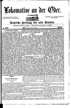 Lokomotive an der Oder vom 31.05.1876