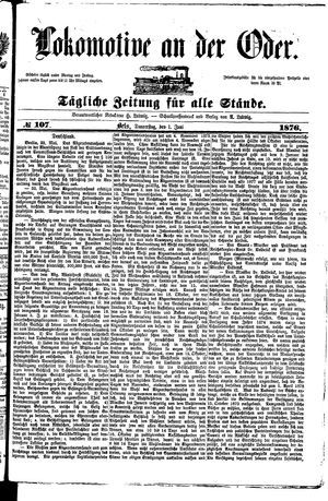 Lokomotive an der Oder vom 01.06.1876