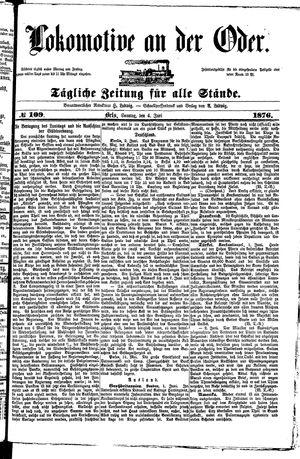 Lokomotive an der Oder on Jun 4, 1876