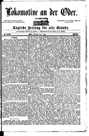 Lokomotive an der Oder vom 07.06.1876
