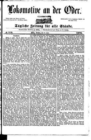 Lokomotive an der Oder on Jun 13, 1876