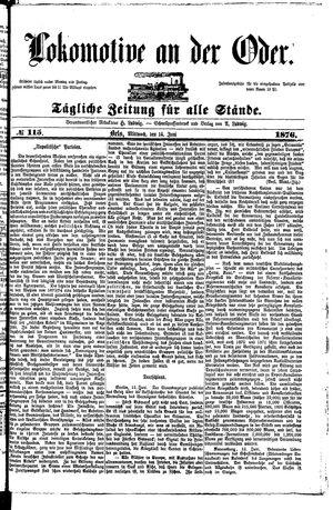 Lokomotive an der Oder vom 14.06.1876