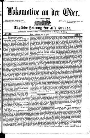 Lokomotive an der Oder vom 15.06.1876