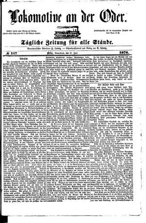 Lokomotive an der Oder vom 17.06.1876