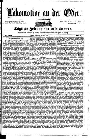 Lokomotive an der Oder vom 18.06.1876