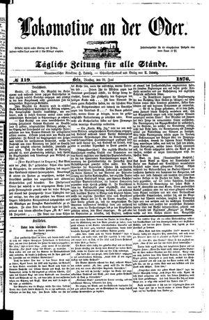 Lokomotive an der Oder vom 20.06.1876