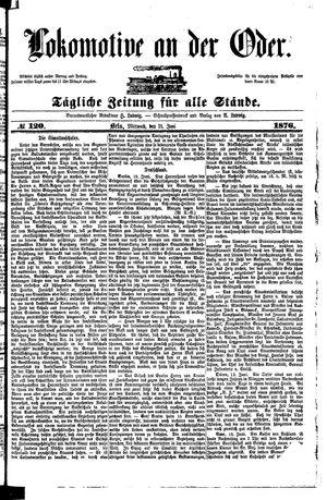 Lokomotive an der Oder vom 21.06.1876