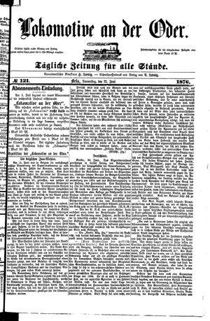 Lokomotive an der Oder vom 22.06.1876