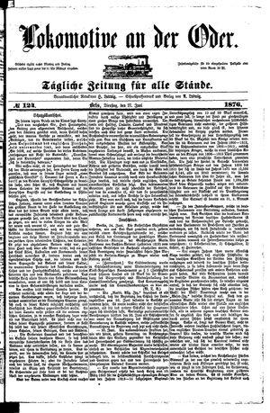 Lokomotive an der Oder vom 27.06.1876