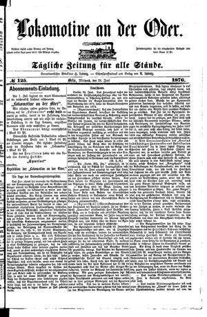 Lokomotive an der Oder on Jun 28, 1876