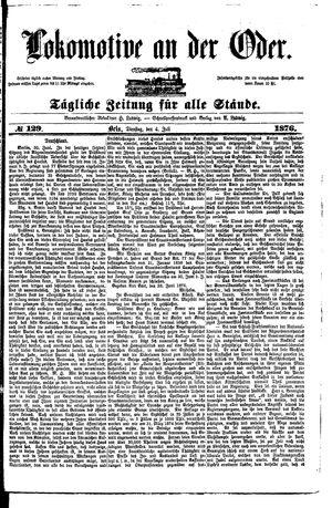 Lokomotive an der Oder vom 04.07.1876