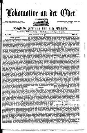 Lokomotive an der Oder vom 08.07.1876
