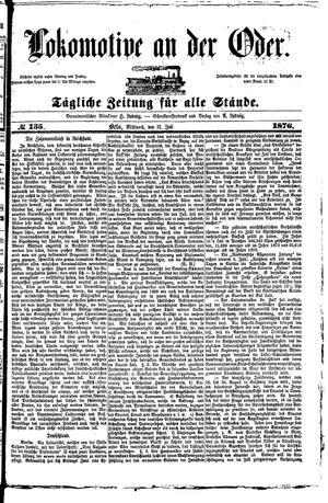 Lokomotive an der Oder vom 12.07.1876