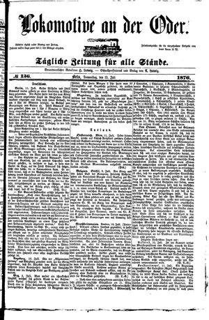 Lokomotive an der Oder on Jul 13, 1876