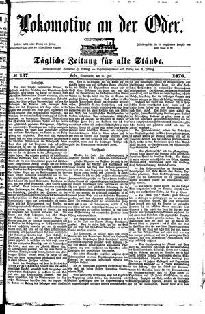 Lokomotive an der Oder vom 15.07.1876