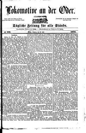 Lokomotive an der Oder on Jul 16, 1876