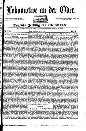 Lokomotive an der Oder vom 19.07.1876