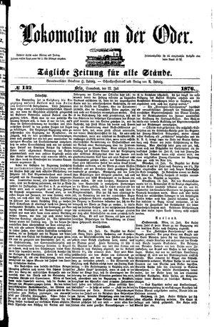 Lokomotive an der Oder vom 22.07.1876