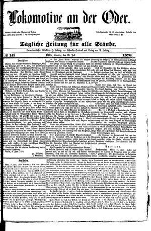 Lokomotive an der Oder vom 23.07.1876