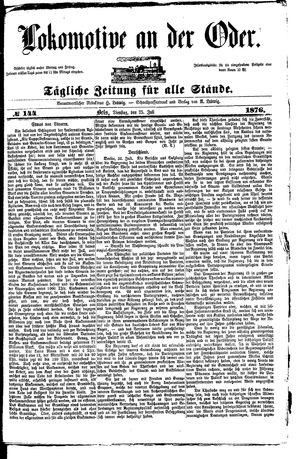 Lokomotive an der Oder vom 25.07.1876