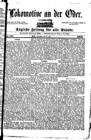 Lokomotive an der Oder vom 29.07.1876